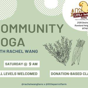Yoga Saturday 9am-2020 @ Little Parrot Farm